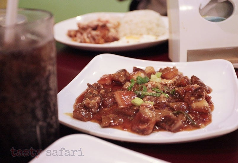 Adobado, a sweetish version of adobo with bagnet