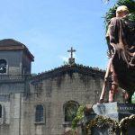 Pangil Church and statue of Spain's Prince Carlos, Laguna