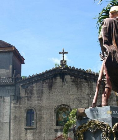 Pangil Church and statue of Spain's Prince Carlos, Laguna