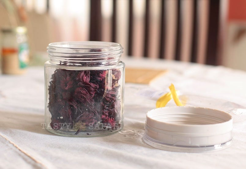 How to store dried hibiscus (Roselle) buds