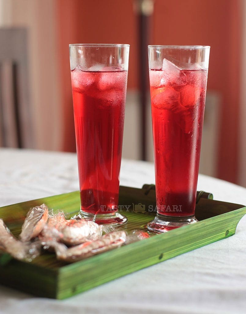 Ice cold Hibiscus (Roselle) juice, inspired by the Negros Museum Cafe