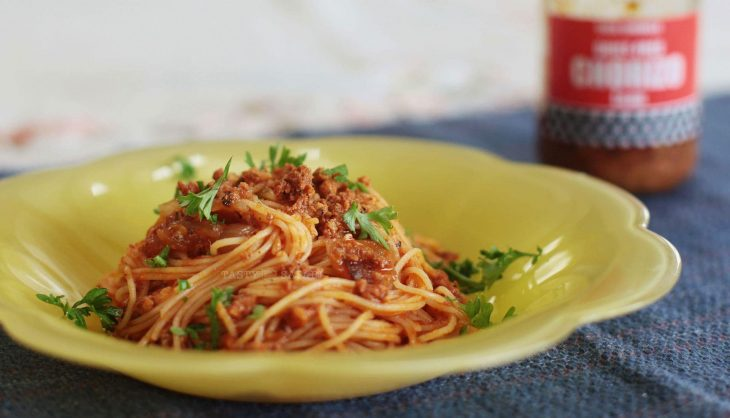 Angel Hair Pasta With Crumbled Chorizo