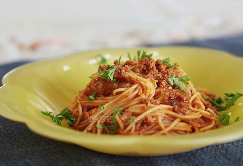 Angel Hair Pasta With Crumbled Chorizo Recipe