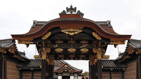 The main gate to Ninomaru Palace. Nijo Castle. Kyoto, Japan