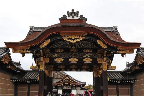 The main gate to Ninomaru Palace. Nijo Castle. Kyoto, Japan