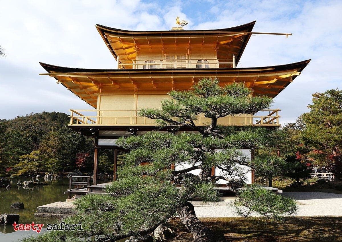 "Kinkaku-ji (""Temple of the Golden Pavilion""), officially named Rokuon-ji (literally ""Deer Garden Temple""), is a Zen Buddhist temple in Kyoto, Japan"