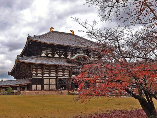 The Great Buddha Hall at the Tōdai-ji Temple Complex in Nara