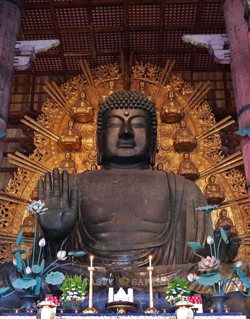 The 500 tonne bronze statue of the Buddha at Todaiji Temple, Nara