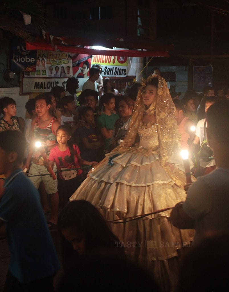 A Gay Sagala in Virginal White | In Marikina, the 2015 Gay Santacruzan