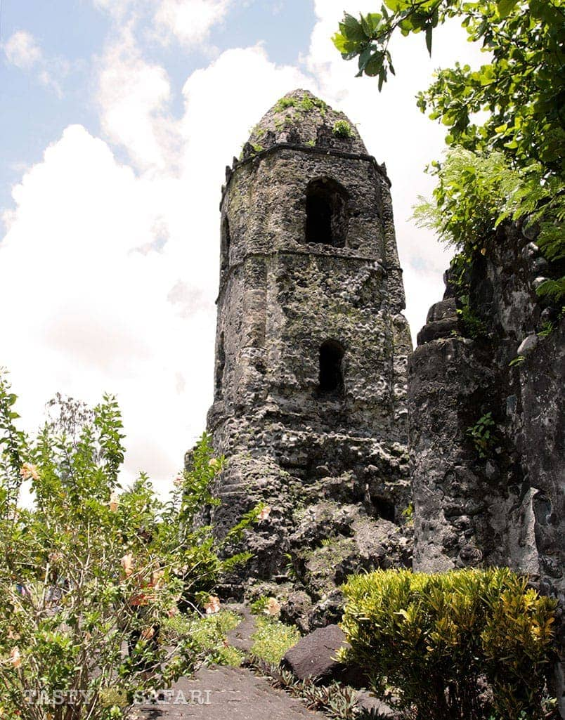 Cagsawa Ruins in Albay: the bell tower