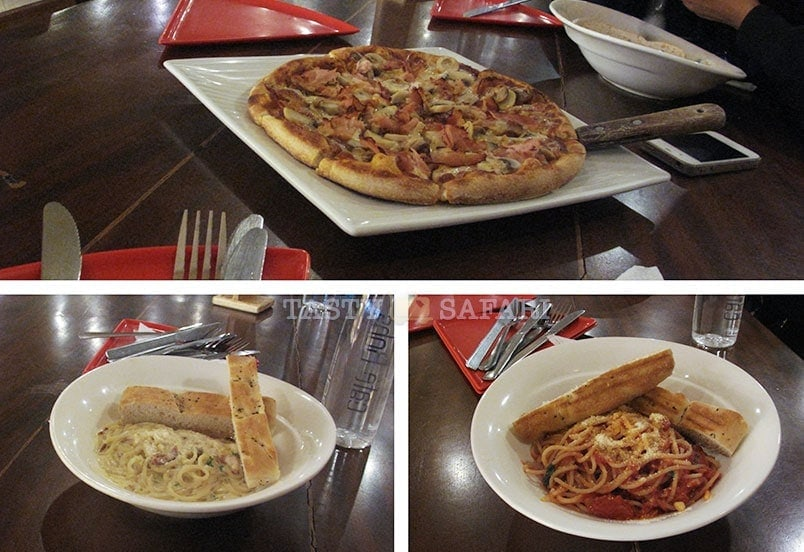 Pasta and pizza. Cafe Bob's, Bacolod City