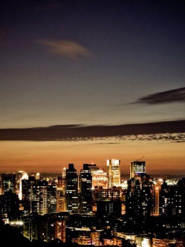 Taiwan cityscape at night