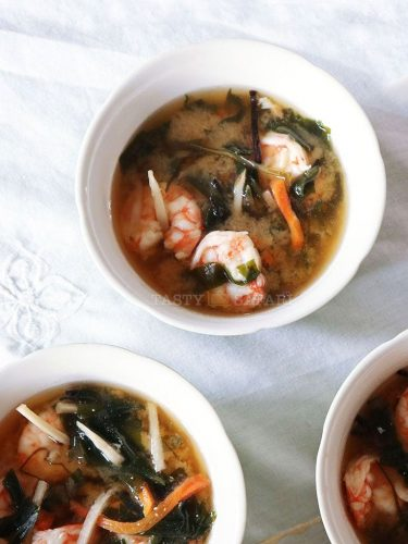 How to cook shrimp miso soup