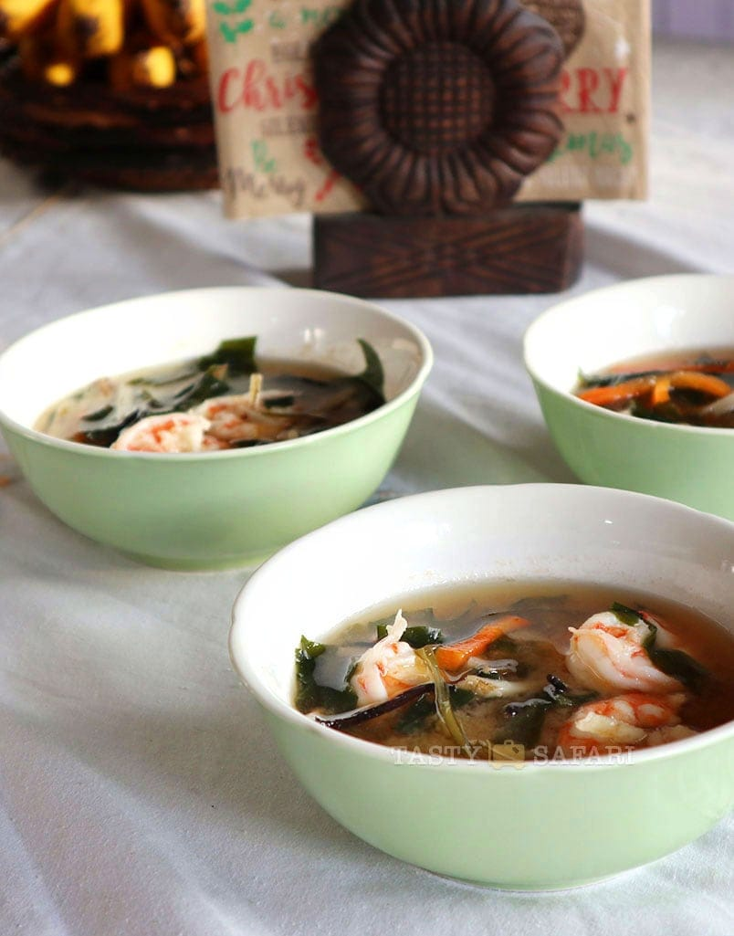 Make shrimp miso soup today!