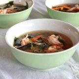 10-minute shrimp miso soup