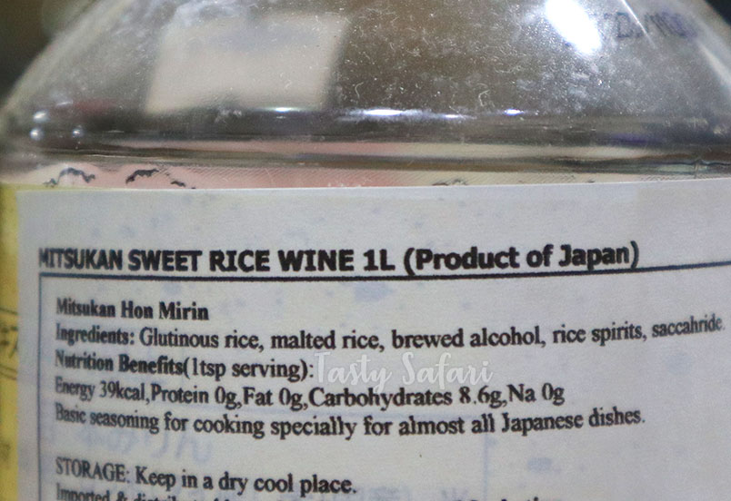Hon mirin: sweet rice wine for Japanese cooking