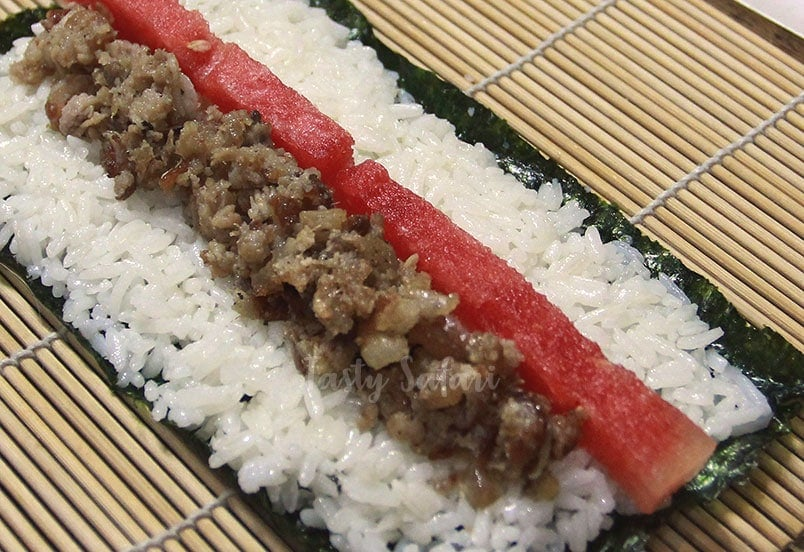 Nori is a seaweed used for making sushi and maki