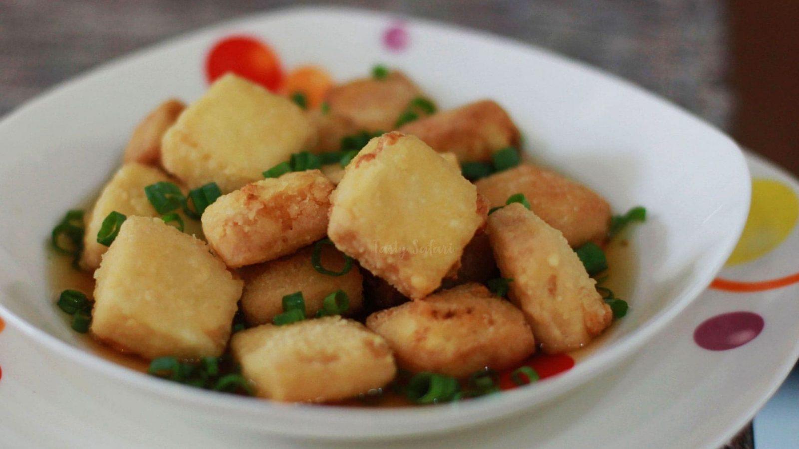 Agedashi tofu recipe for home cooking