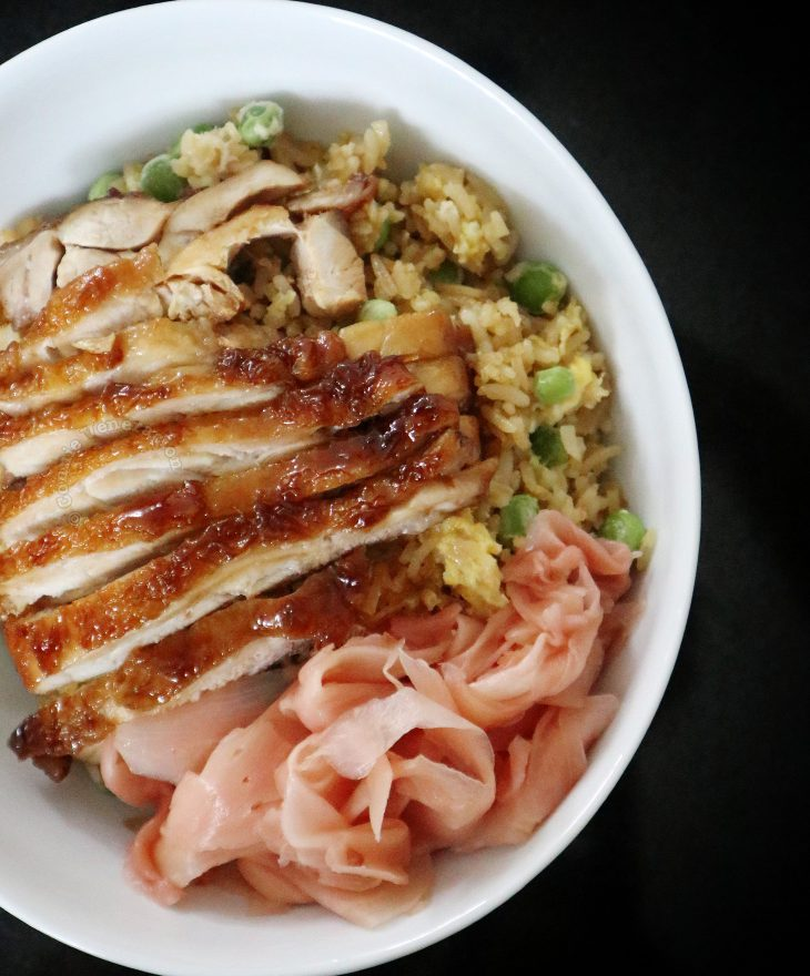 Chicken teriyaki with pickled ginger