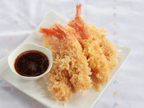 How to cook Ebi (shrimp) tempura with tensuyu sauce
