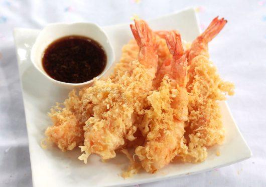 Recipe for Ebi (shrimp) tempura with tensuyu sauce