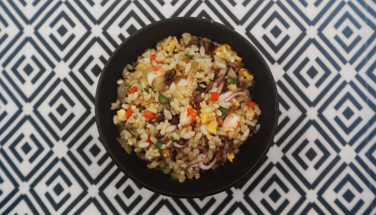 Shrimp and Squid Fried Rice