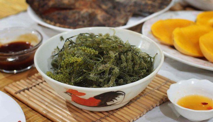 Umibudo (sea grapes), an edible seaweed consumed in Japan