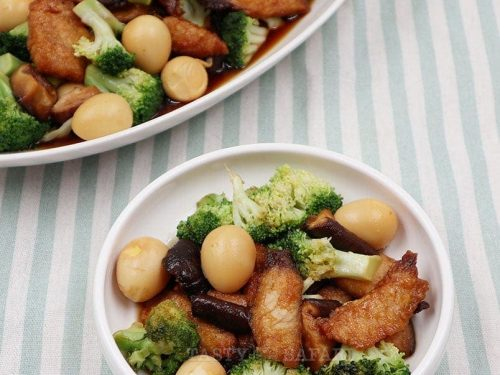How to Cook Japanese Soy Honey Fish and Shiitake With Broccoli and Quail Eggs
