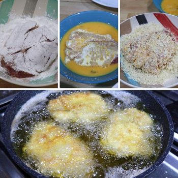 Step-by-step Guide for Cooking Tonkatsu (Japanese Deep-fried Breaded Pork Cutlet)