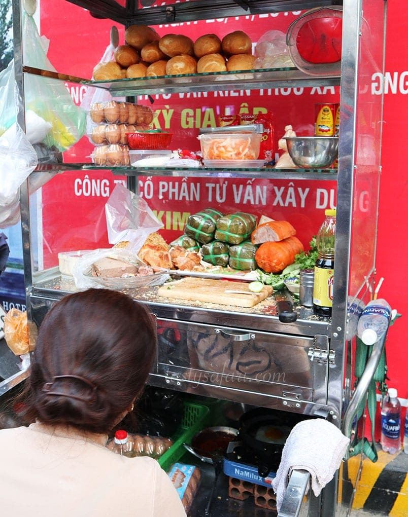 A banh mi stall in Saigon
