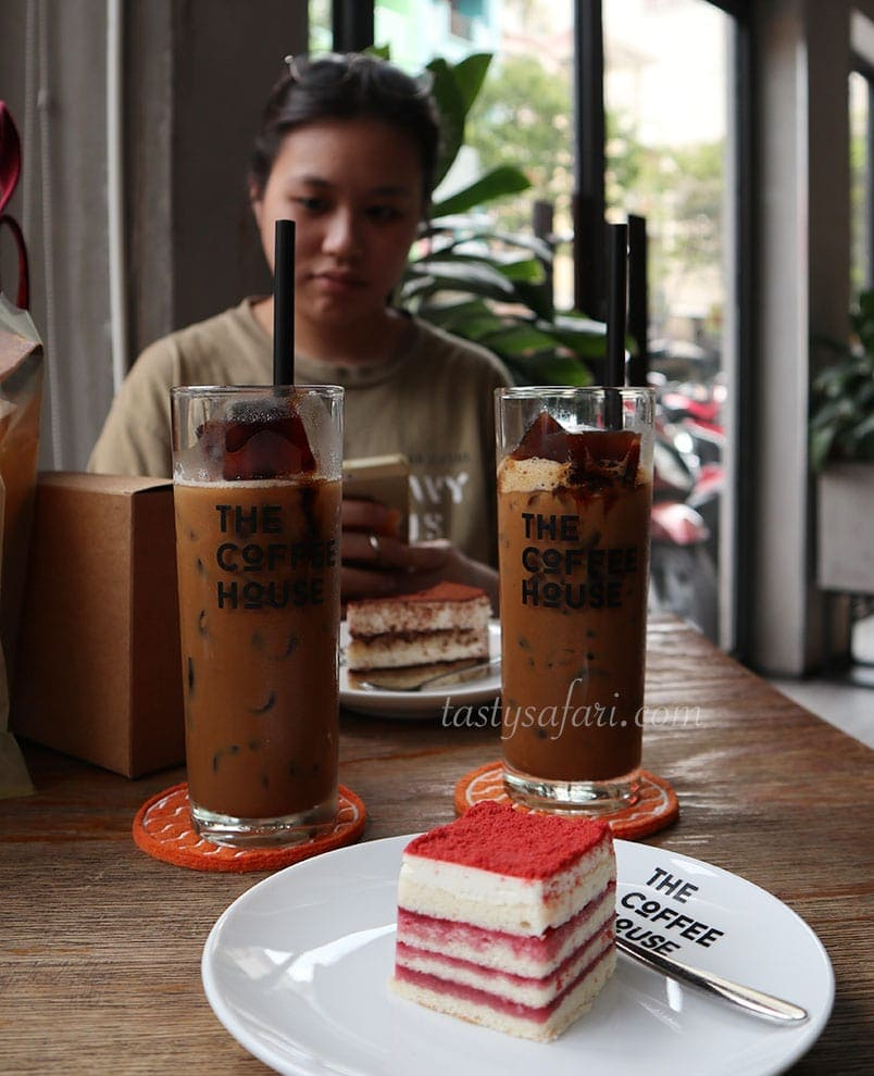 Coffee and cakes at The Coffee House, Ho Chi Minh City