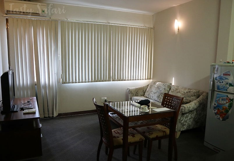 Living room and balcony, Green View Serviced Apartments, Saigon