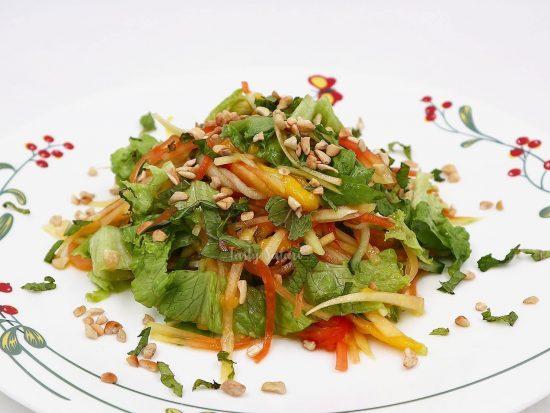 Vietnamese-style Papaya and Mango Salad