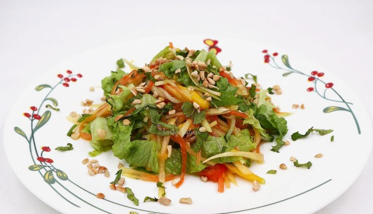 Vietnamese-style Papaya and Mango Salad