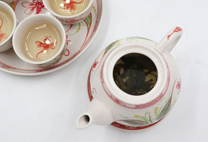 Brewed Vietnamese jasmine tea