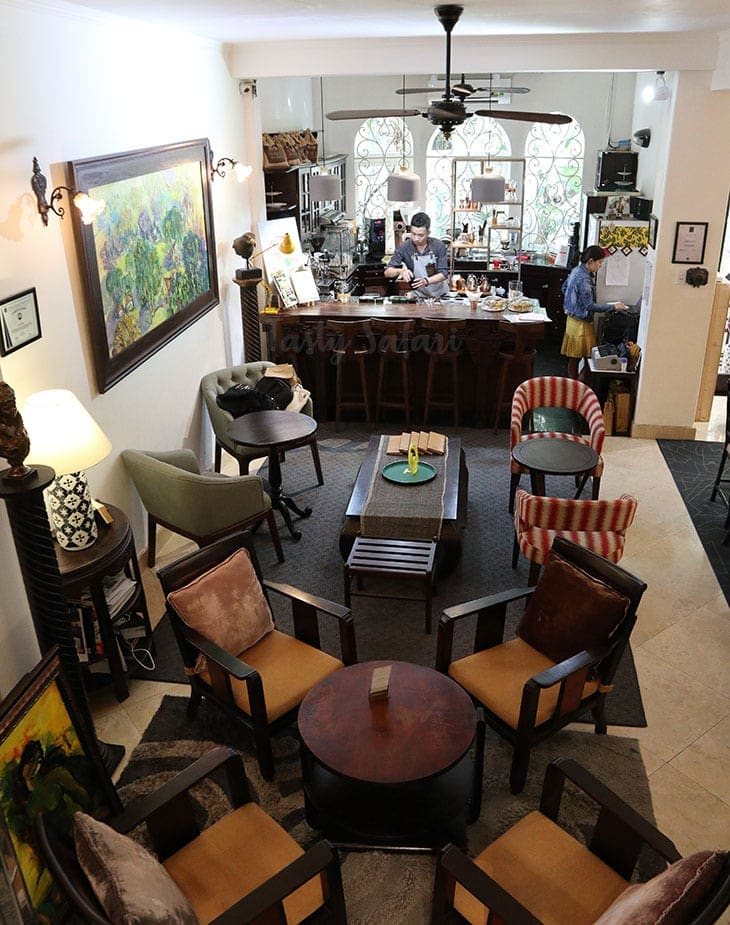 The Yellow Chair Specialty Coffee is housed in a villa