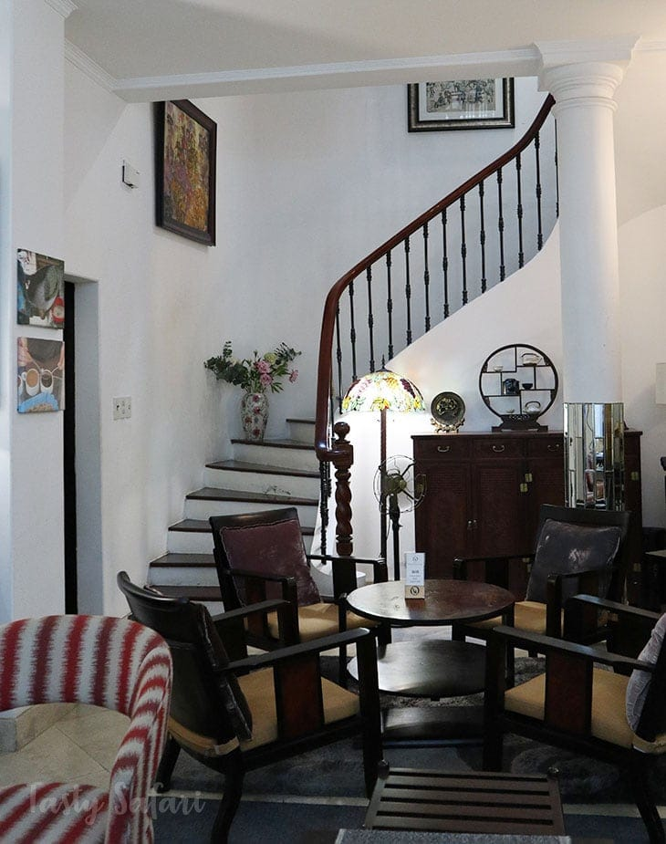 The Yellow Chair Specialty Coffee: staircase leading to the upper floors