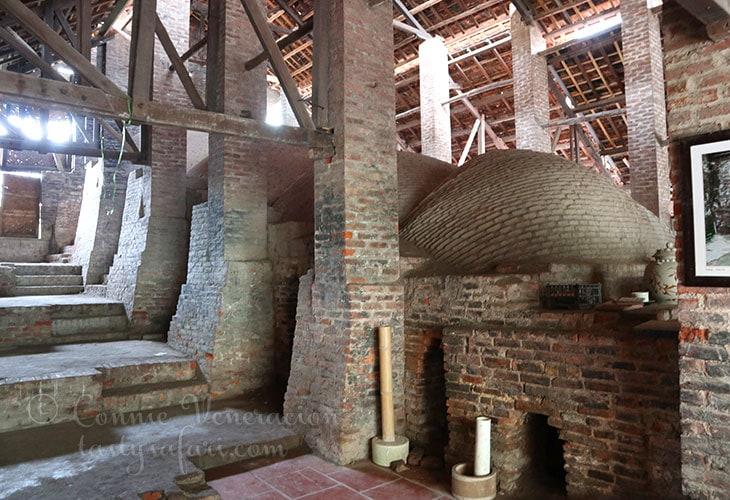 500-year-old wood-fired kiln in Bat Trang, Vietnam