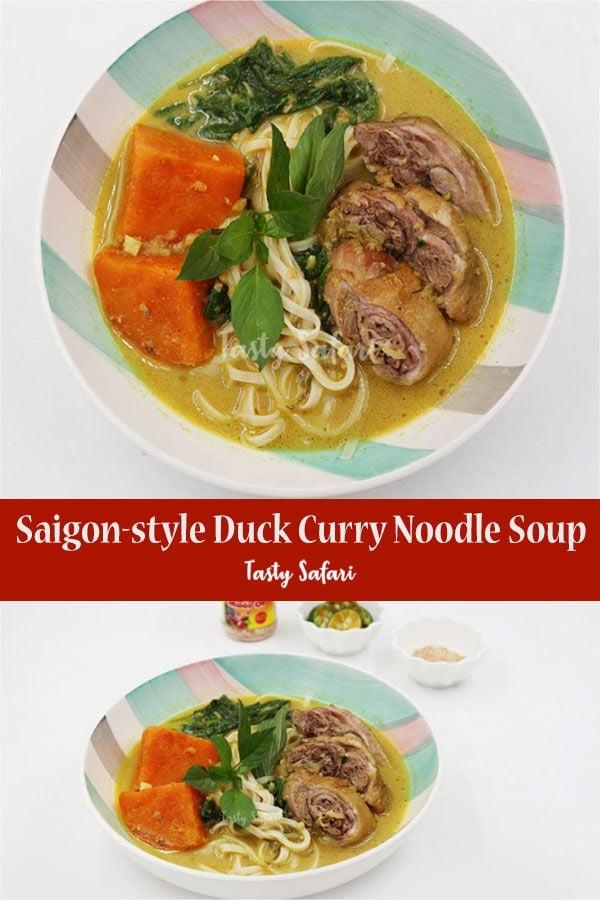 Saigon-style Duck Curry Noodle Soup