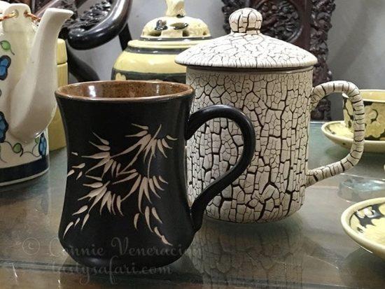 Coffee mugs from Bat Trang Village, Vietnam.