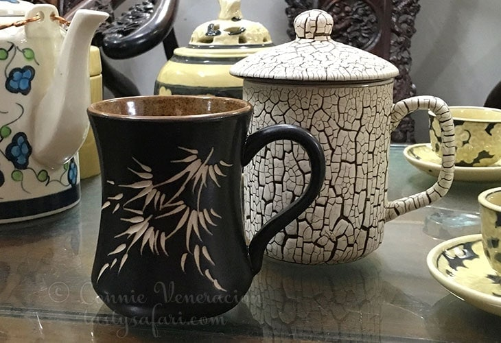 Coffee mugs from Bat Trang Village, Vietnam.