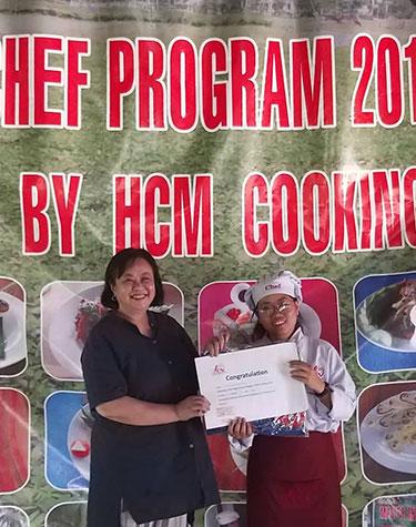 Connie Veneracion, Cooking School, Saigon