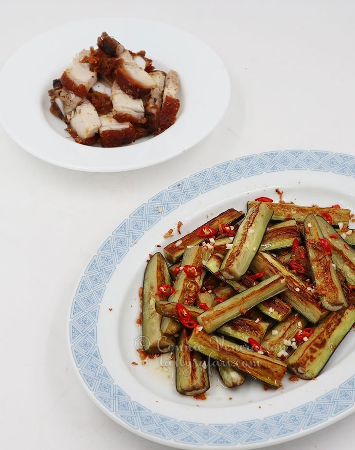 Pan-grilled Eggplants with Vietnamese Sweet Sour Chili Sauce Recipe