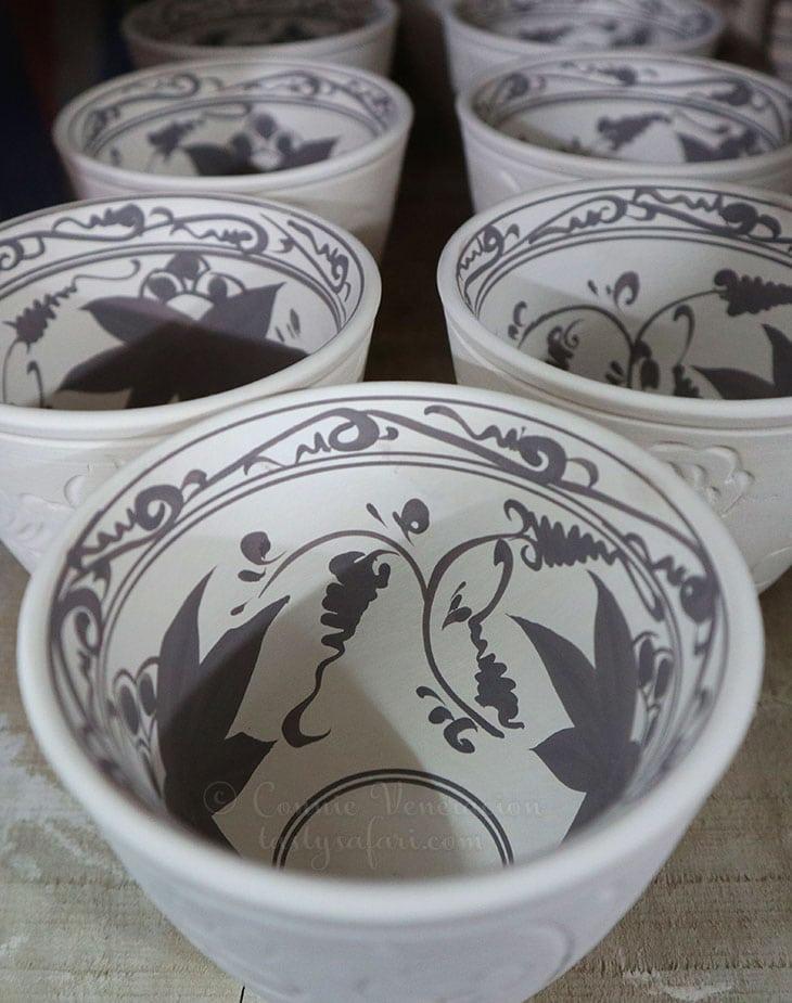 Hand painted bowls. Bat Trang Village, Vietnam.