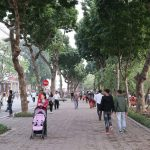 The promenade around Hoan Kiem Lake, Hanoi