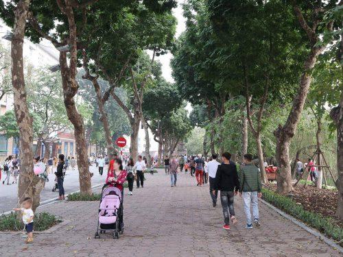 The promenade around Hoan Kiem Lake, Hanoi