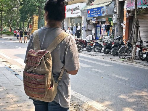 Backpack made of hemp