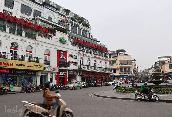 The restaurants, cafes and hotels around Hoan Kiem Lake, Hanoi