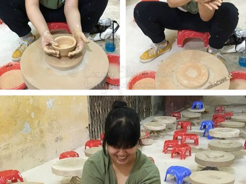 Sam Veneracion making pottery. Bat Trang Village, Vietnam.