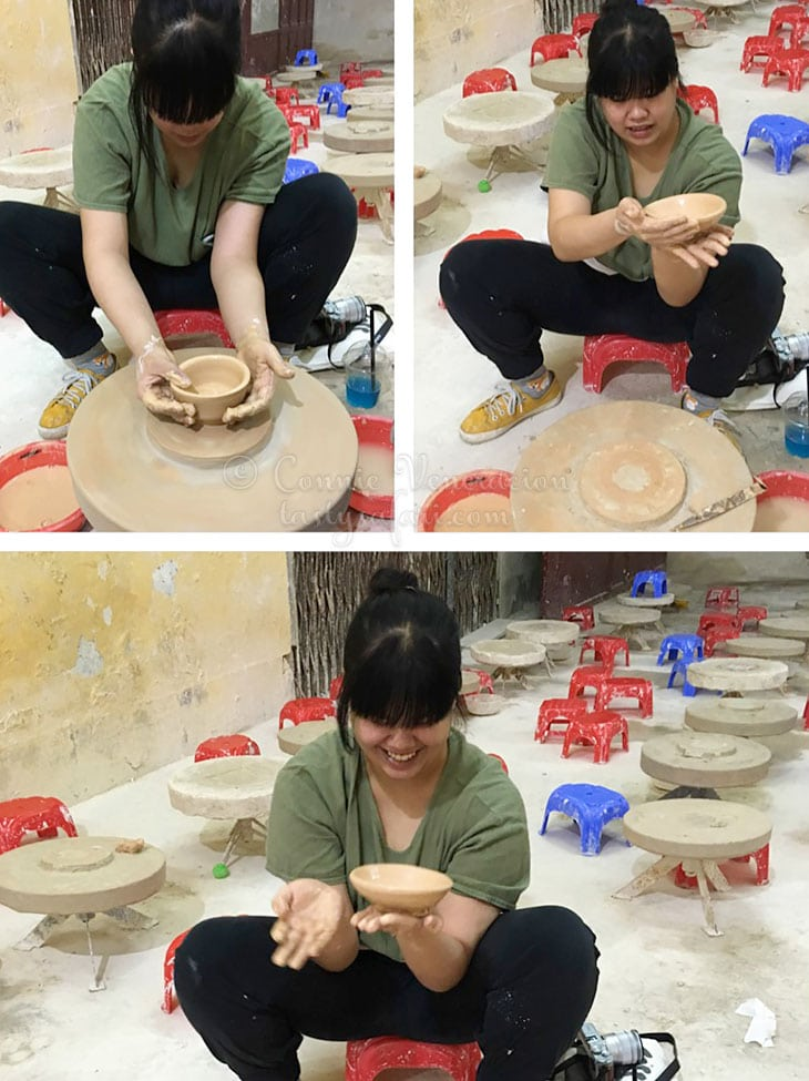 Sam Veneracion making pottery. Bat Trang Village, Vietnam.